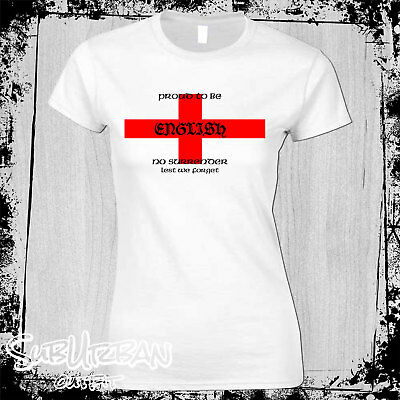 £10.99 • Buy St Georges Day Proud To Be English Women's T-Shirt English Patriot #2