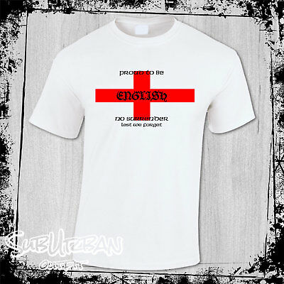 St George's Day Proud To Be English Men's T-Shirt English Patriot #2 • 10.99£
