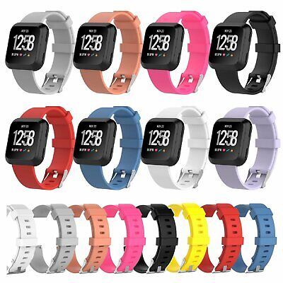 $ CDN6.01 • Buy Sports Strap For Fitbit Versa Smart Watch Bands Silicone Bracelet Wrist Band