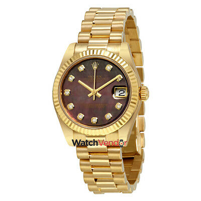 $ CDN35919.99 • Buy Rolex Datejust Mother Of Pearl Dial Ladies 18K Gold President Watch 178278BKMDP