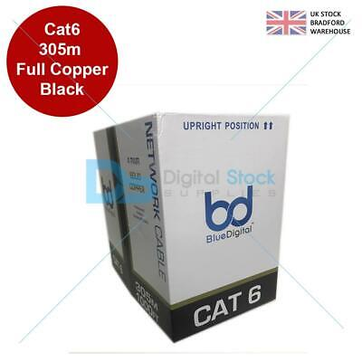 £119.97 • Buy 305M CAT6 UTP Outdoor Duct Grade Gigabit Network Cable, 23AWG Solid COPPER Cores