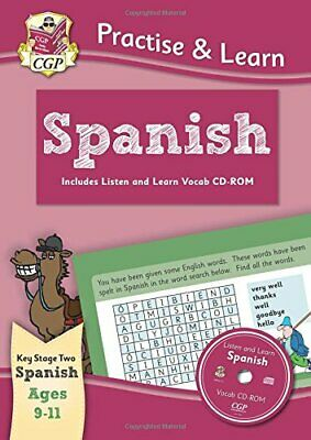 £5.99 • Buy Practise & Learn: Spanish For Ages 9-11 - With Vocab CD-ROM (CGP... By CGP Books