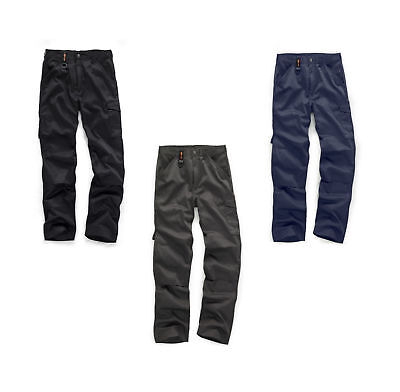 Scruffs Mens Worker Trousers 2011 Cargo Work Combat Pants 30-40 CLEARANCE • 19.99£