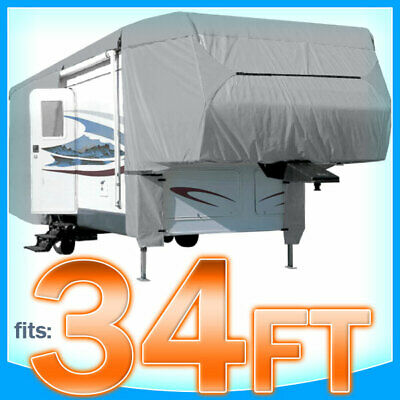 $ CDN198.69 • Buy 34' Ft 5th Wheel Cover RV Motorhome Trailer Storage Covers Camper UV Protection