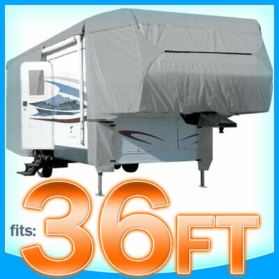 $ CDN198.69 • Buy 36' Ft 5th Wheel RV Toy Hauler Trailer Cover Winter Storage Protection Rain Snow
