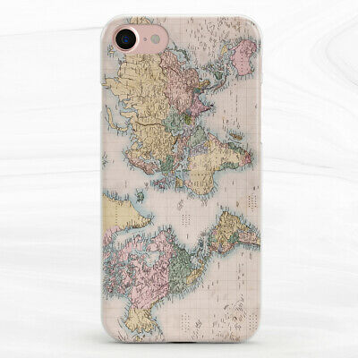 £13.76 • Buy Vintage Atlas World Map Art Case Cover For IPhone 6S 7 8 Xs XR 11 Pro Plus Max