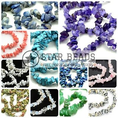£2.85 • Buy 32-34  Strand Synthetic Glass Gemstone Chip Crystal 250+ Beads 4-7mm Pick Colour