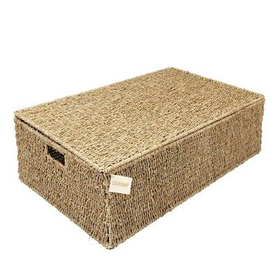 £26.99 • Buy Woodluv Seagrass Under Bed Storage Box Chest Basket -Large Or Extra Large