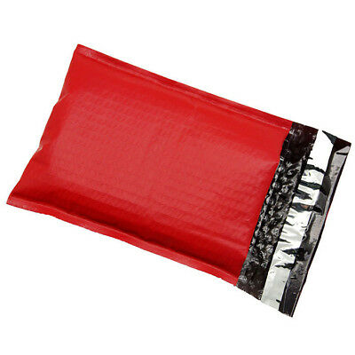$39.95 • Buy 250 #0 ( RED ) Poly Bubble Mailers Envelopes Bags 6x10 Extra Wide CD DVD 6x9