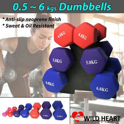 AU61.99 • Buy Dumbbell Weights Set Anti-slip Exercise Fitness Home Gym Dumbells