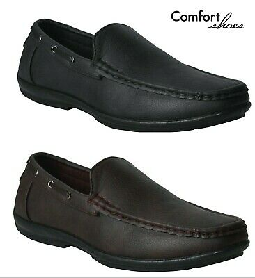 Mens New Slip On Casual Boat Deck Mocassin Designer Loafers Driving Shoes Size • 11.95£