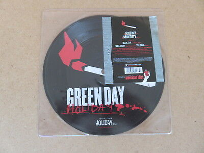 GREEN DAY Holiday / Minority REPRISE 7  ORIGINAL 2005 EU / UK PICTURE DISC W664 • 17.09£