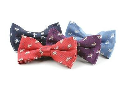 Baby Toddler Boys Pre Tied Christmas Jacquard Bow Tie Dickie Bow *UK *4 Colours* • 3.99£
