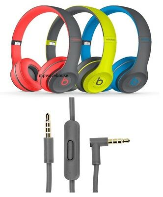 £5.99 • Buy BEATS SOLO 2 ACTIVE SERIES 3.5mm Replacement Audio Cable With MIC & REMOTE