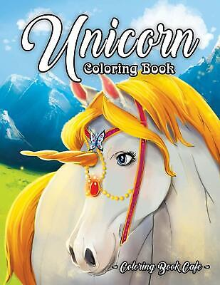 £9.69 • Buy Unicorn Adult Colouring Book Cute Girls Fantasy Magical Horses Ponies Fairy Tale