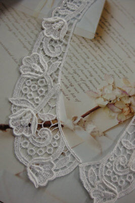 12 Pieces 8  Length Ivory Floral Venise Lace Collars In 6 Sets • 8.14£