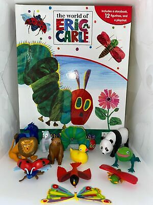 The World Of Eric Carle Cake Toppers 12 Plastic Figures Bn Free P+p - Uk Stock • 10.99£