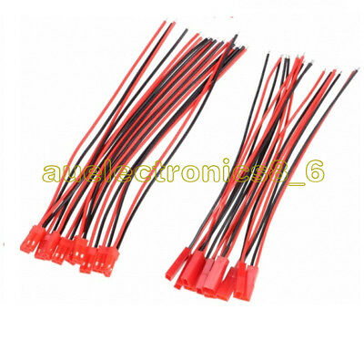 AU1.14 • Buy 5pairs JST SM 2Pins 2P Female Male Plug Connector Wire Cable For LED Strip 100mm