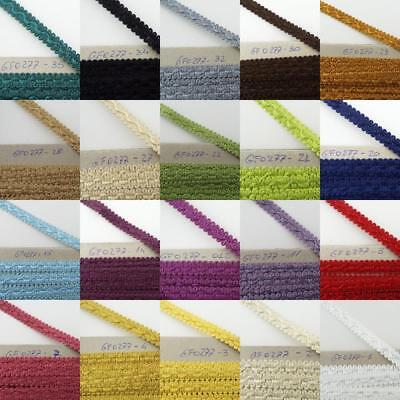 22 COLOUR 13mm Scroll Braid Edging Trim Blind Clothes Costume Lampshade 1 2 4m • 4.10£