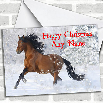 £3.79 • Buy Lovely Horse Personalised Christmas Card