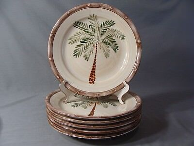 $48 • Buy 6 Home Trends Dinner Plates In The West Palm Pattern
