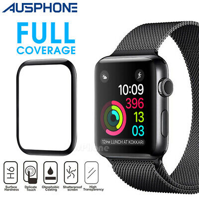 AU5.95 • Buy For Apple Watch 5 4 3 2 1 3D Tempered Glass Full  Screen Protector 38/42/40/44mm