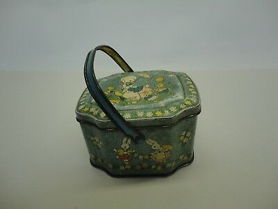 Vintage George W Horner Sweet Tin With Handle Duck Rabbit Collectable B4 • 37.99£
