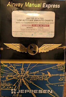 Vintage Jeppesen Airway Manual Express U.S. Low Altitude Enroute Charts 1998 • 20$