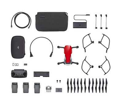 AU900.25 • Buy DJI Mavic Air - Flame Red Drone - Fly More COMBO - 4K Camera