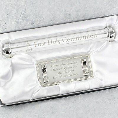 Personalised Engraved First Holy Communion Certificate Holder - Gift Boy Girl • 20.99£