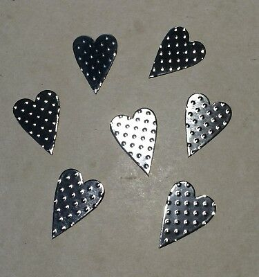 10th Wedding Anniversary Scatter Decorations/tin Hearts/embellishment/confettix6 • 1.99£