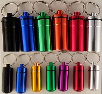 $2.99 • Buy Key Chain Pill Holders, Water/Humidity Proof, Select: Color & Size