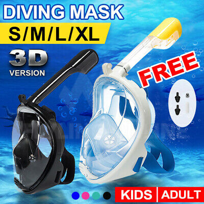 AU22.35 • Buy Full Face Diving Seaview Snorkel Snorkeling Mask Swimming Goggles For GoPro AU