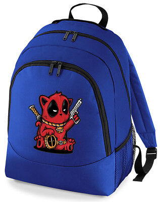 Deadpool Kitty Cute Cat Rucksack Bag • 15.99£