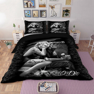 Gothic Duvet Cover Bedding Set With Pillow Cases Single Double King Sizes New • 26.03£