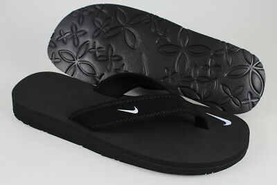 3f8dced70482 Nike Celso Girl Thong Black white Flip Flops Beach Sandals Water Us Womens  Sizes •