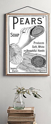 £3.79 • Buy Pears Soap Reprint Vintage Advert Bathroom Home A4 Poster Print Wall Hanging
