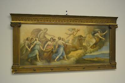 £198.74 • Buy Early Pre 1940's Frame & Print Angels Gods Fantasy Horse Baby Under Glass