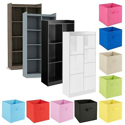 £54.99 • Buy Tall Wooden 7 Cube Bookcase Shelving Display Storage Unit Cabinet Shelves NEW