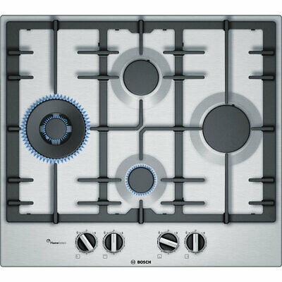 £349 • Buy Bosch PCI6A5B90 Serie 6 Built In 58cm 4 Burners Gas Hob Stainless Steel
