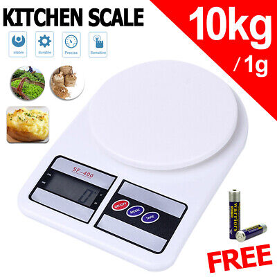 AU12.88 • Buy 10kg/1g Digital LCD Electronic Kitchen Scale Food Weighing Postal