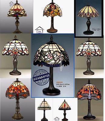 Tiffany-Style Glass HandCrafted Table /Desk / Bedside Lamps • 89.99£