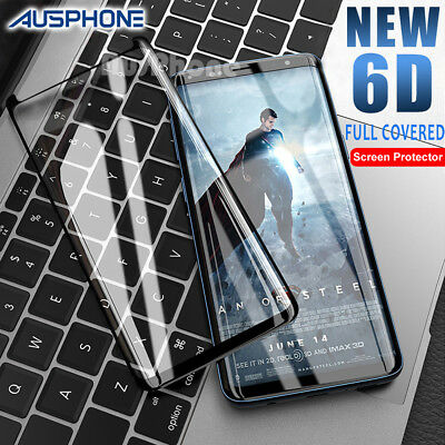 AU6.95 • Buy 6D FULL Tempered Glass For Samsung Galaxy S9 S8 Plus Note 9 8 Screen Protector