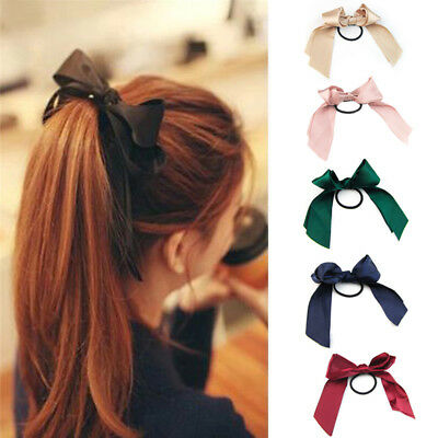 $0.99 • Buy Ribbon Rope Cute Hair Ties Bow Elastic Hair Band Girl Hair Accessories Scrunchie