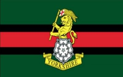 YORKSHIRE REGIMENT FLAG 5' X 3' British Army Armed Forces Catterick Garrison • 5.50£