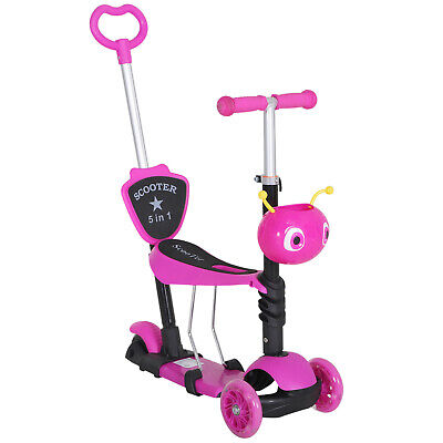 £32.99 • Buy HOMCOM 5-in-1 Kids Baby Toddler Kick Scooter Removable Seat Height Adjustable
