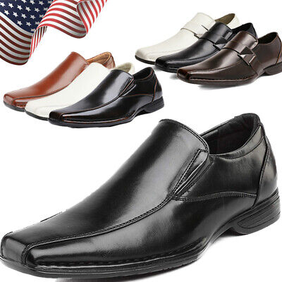 $32.29 • Buy Bruno Marc Mens Slip On Dress Loafers Square Oe Comfort Dress Shoes Size 6.5-13