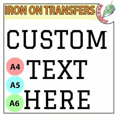 Personalised Custom Iron On T Shirt Transfer Any Text Your Name Hen Stag Party • 2.90£
