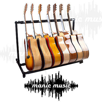 AU84.98 • Buy 7 Guitar Stand Display Rack Holder For Electric Acoustic Bass Guitars