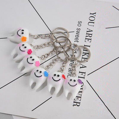 50PCS Dental Simulation Tooth Pendant Keychain Gifts Promotional Clinic Gifts • 8.69£